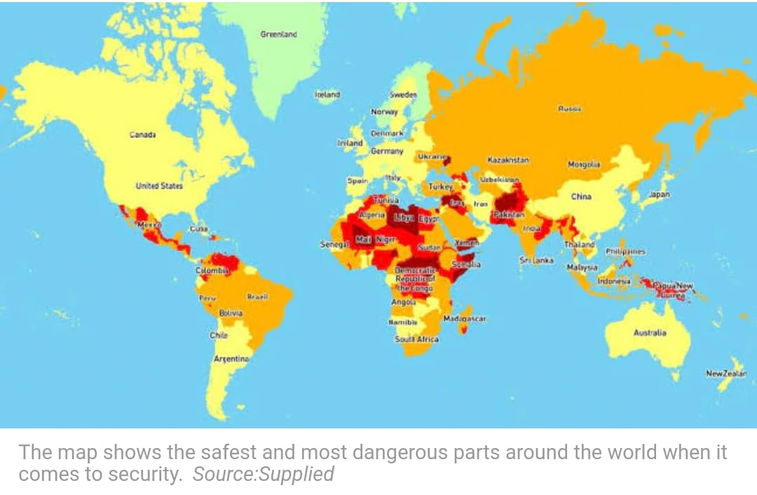 world travel safety map