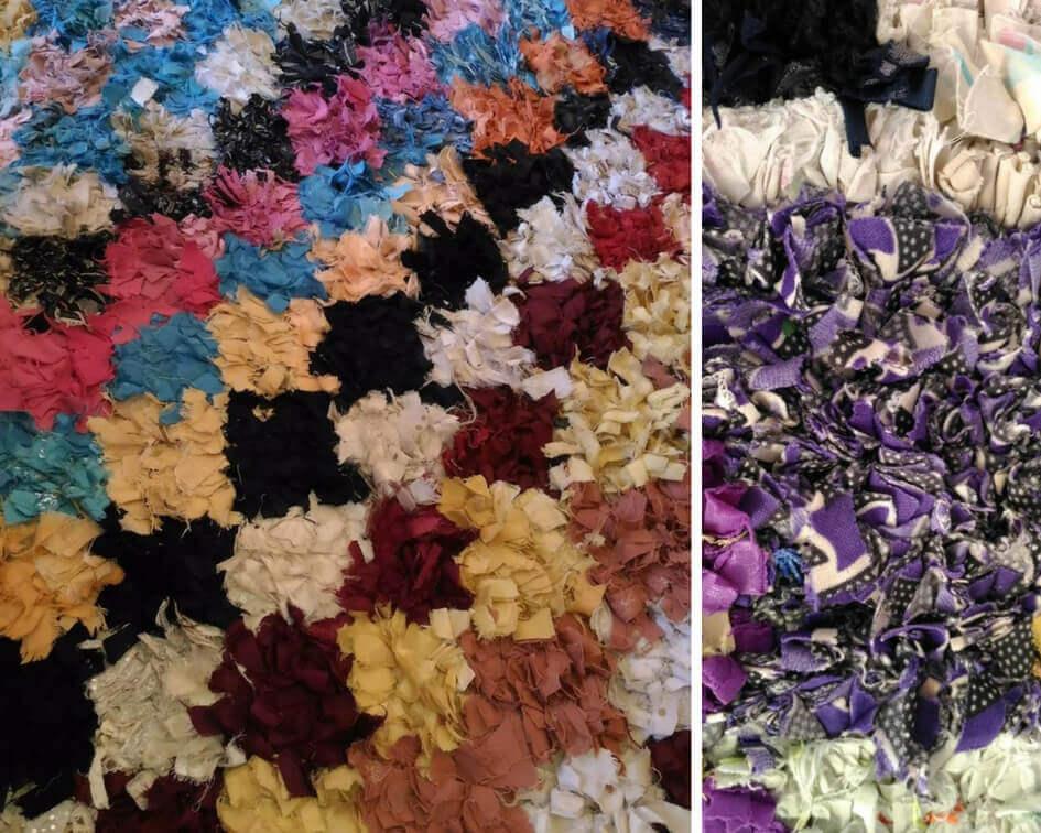 Recycling carpets Boucherouite style