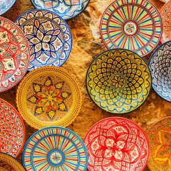 colourful plates designed for you so morocco tour